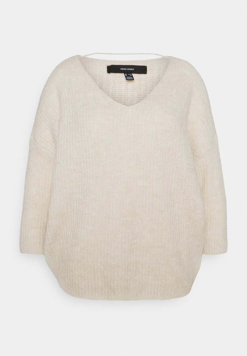Vero Moda Curve - VMJULIE V-NECK BLOUSE - Jumper - birch