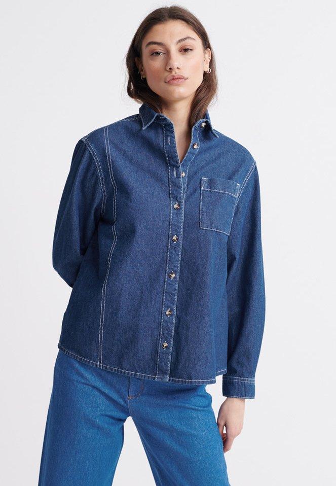 Women SUPERDRY ALCHEMY CLASSIC SHIRT - Button-down blouse