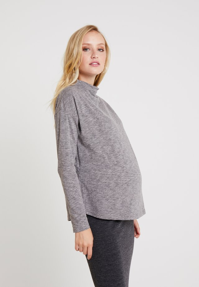 DARIEL TEE - Long sleeved top - grey