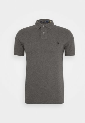 SLIM FIT MODEL - Polo shirt - grey/black