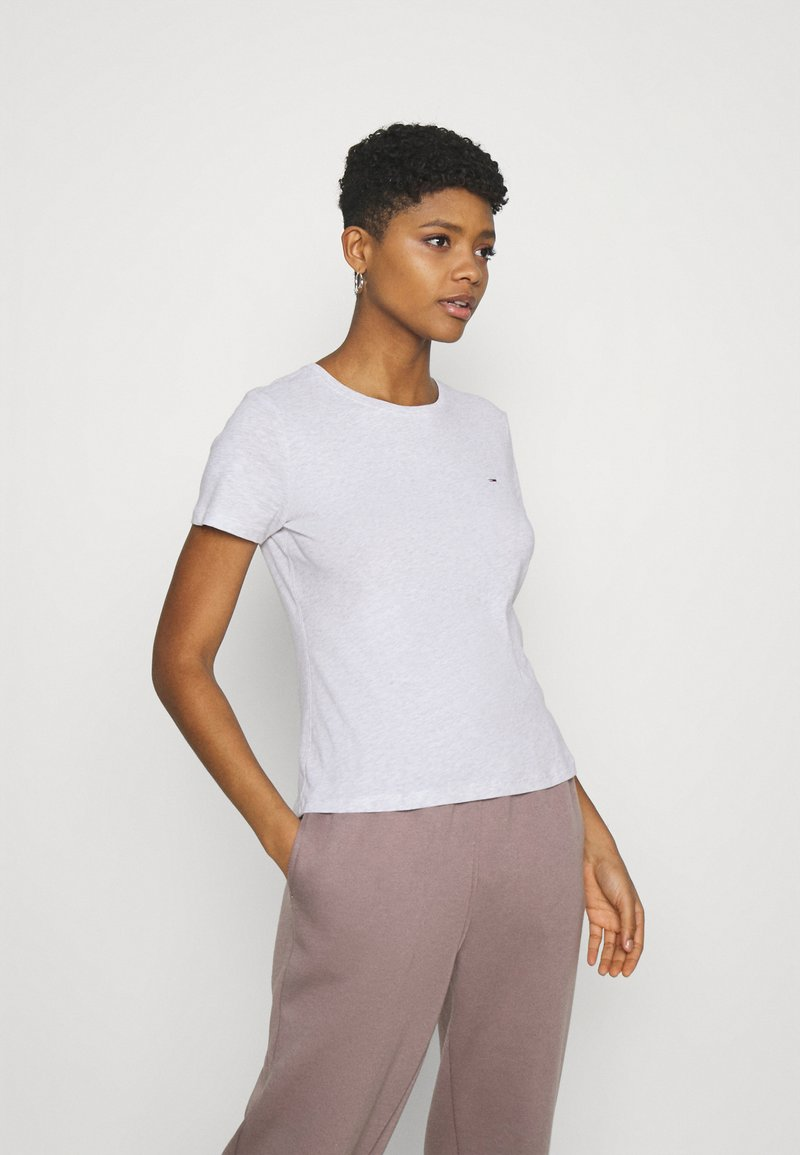 Tommy Jeans - SOFT TEE - Basic T-shirt - silver grey heather