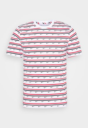 Print T-shirt - white/university red/obsidian