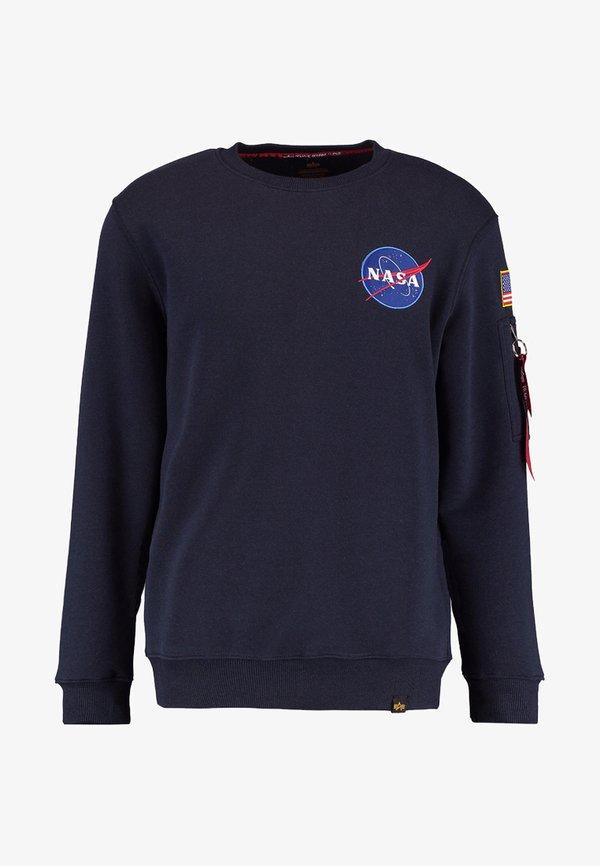 Alpha Industries NASA - Bluza - blue/granatowy Odzież Męska SWZB