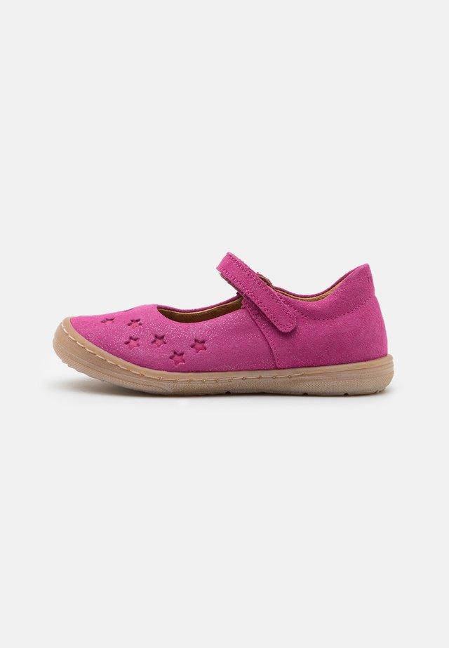 MARI - Ankle strap ballet pumps - fuxia