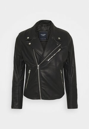 BIKER - Faux leather jacket - black
