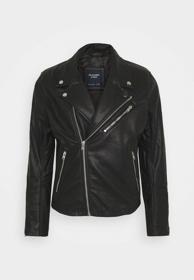 BIKER - Faux leather jacket - black