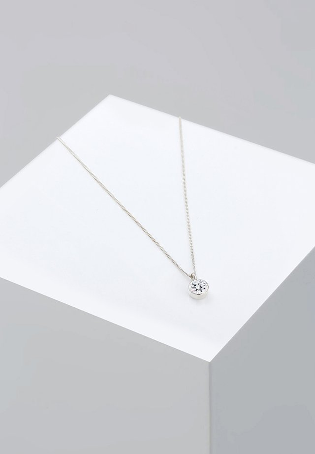 BASIC SOLITÄR - Necklace - silver-coloured