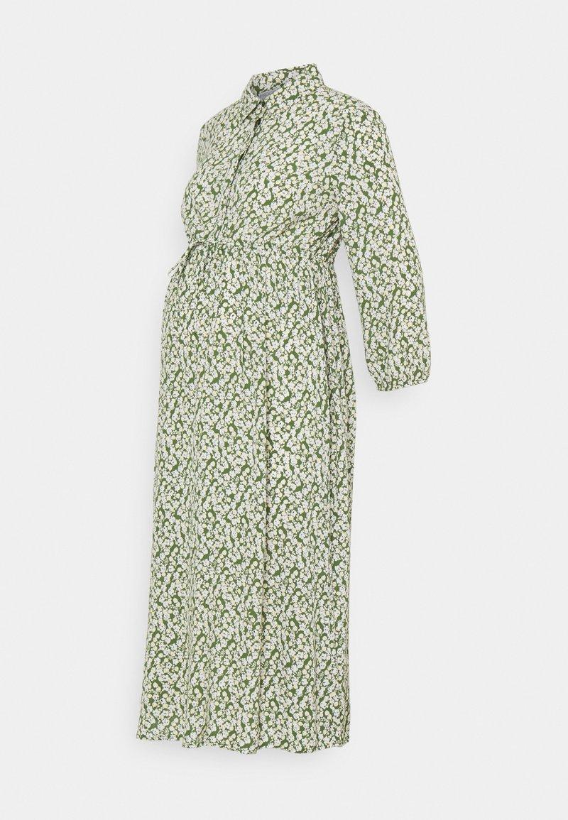 Pieces Maternity - PCMLUA MIDI DRESS - Maxi dress - garden green