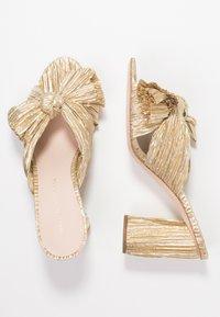 Loeffler Randall - PENNY KNOT MULE - Pantofle na podpatku - gold - 3