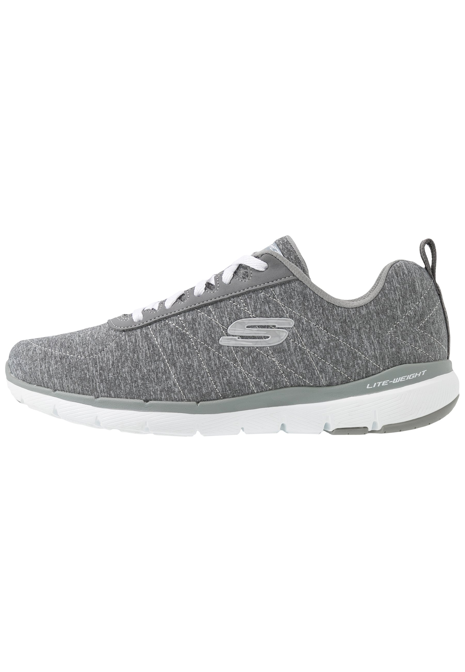 Skechers Wide Fit FLEX APPEAL 3.0 Joggesko graywhite