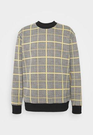 MUSTARD CHECK CREW - Sweatshirt - yellow