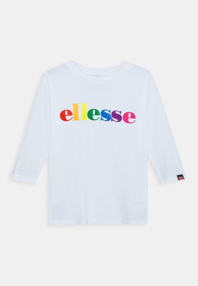 DISTIO UNISEX - T-shirt à manches longues - white