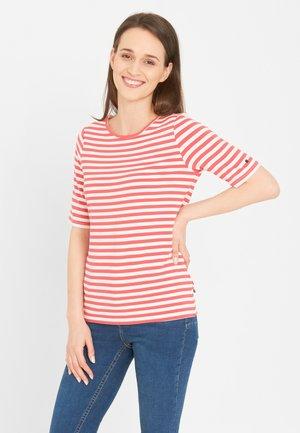 T-shirt print - light red stripe
