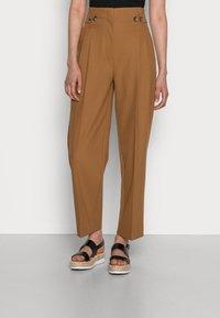 Selected Femme - SLFLEVA PANT - Trousers - rubber - 0