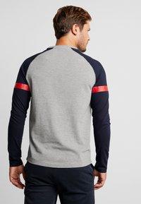 TOM TAILOR DENIM - LONGLSLEEVE CUTLINE - Långärmad tröja - middle grey mélange - 2