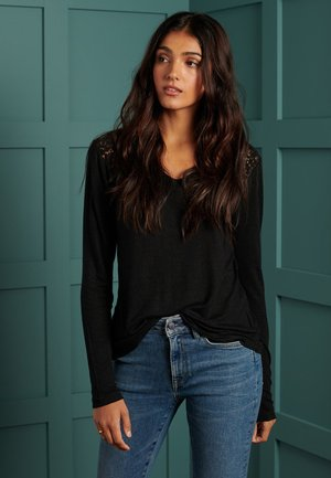 INSERT - Long sleeved top - black