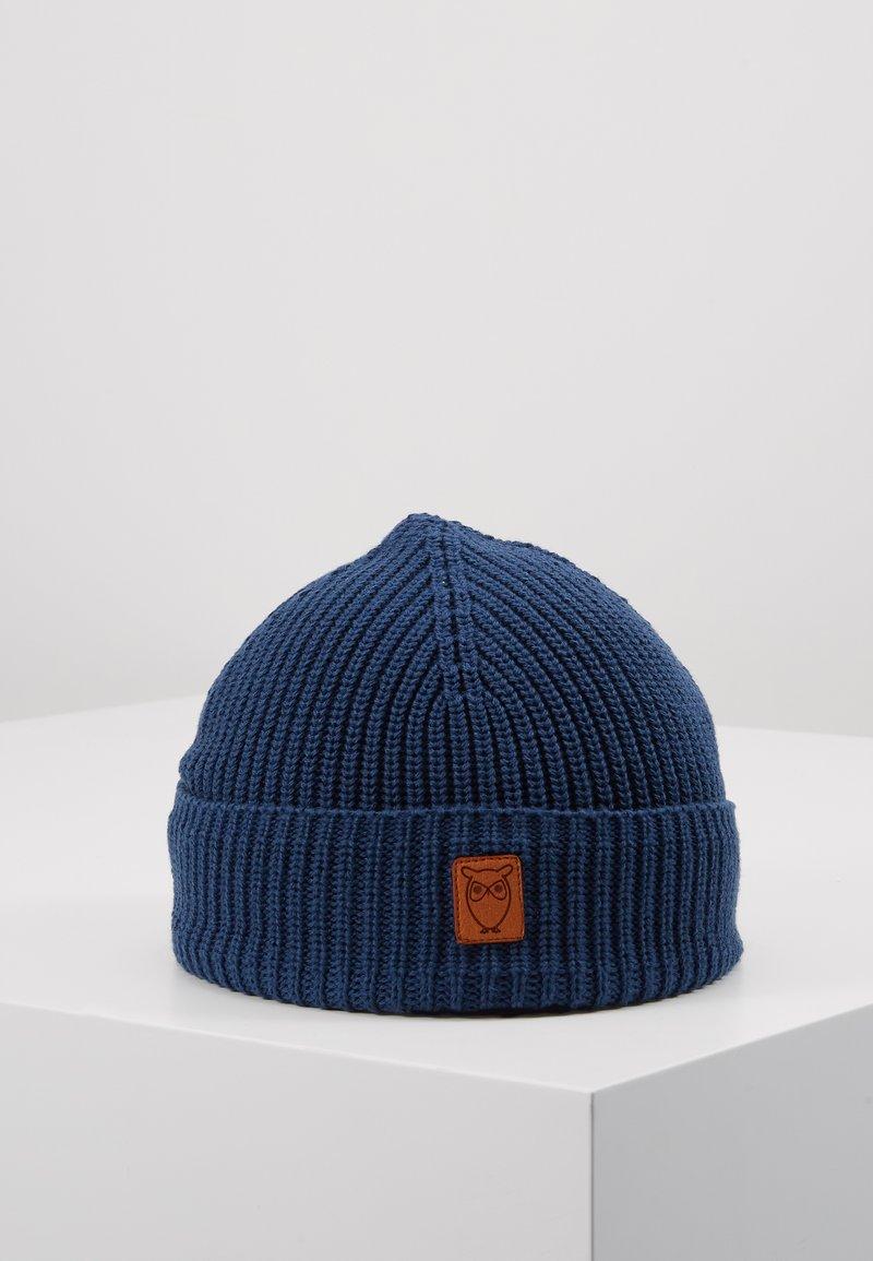 Knowledge Cotton Apparel - RIBBING HAT SHORT - Beanie - blue