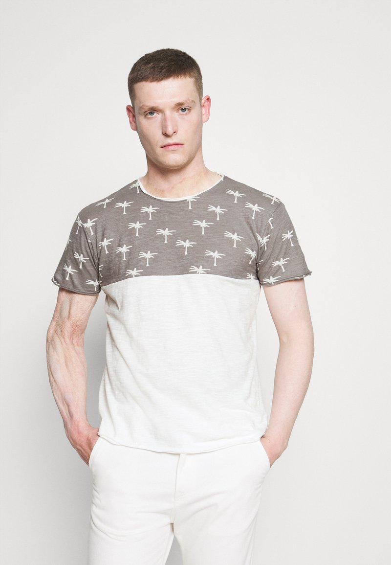 INDICODE JEANS - CHARLTON - Print T-shirt - dark grey