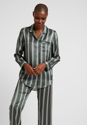 SLEEP - Pyjama top - olive stripe