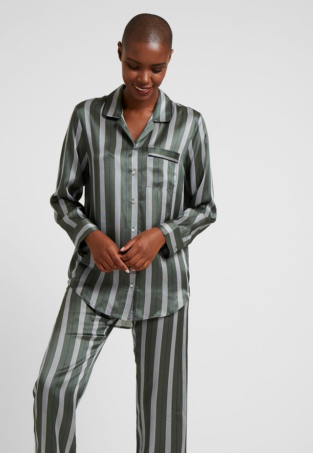 SLEEP - Pyjamashirt - olive stripe