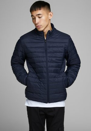 JJEERIC PUFFER COLLAR - Light jacket - navy
