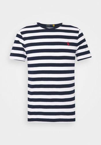 Print T-shirt - white/french navy