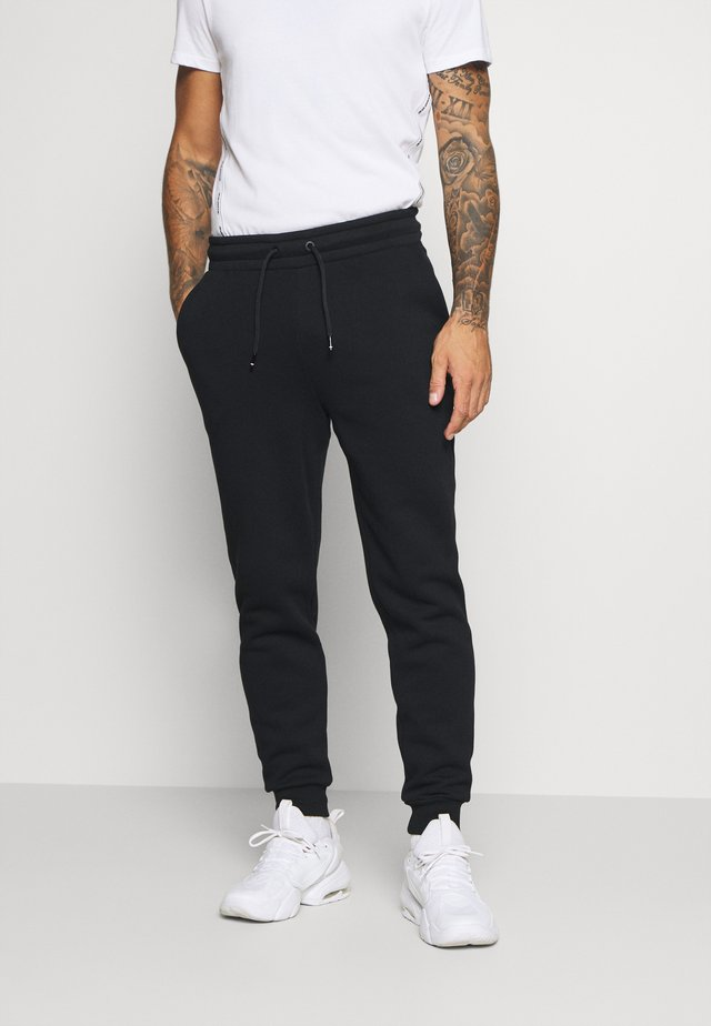 CUFFED REGULAR PANT - Joggebukse - black