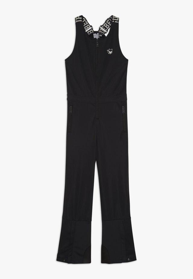 SKI DUNGAREE  - Zimní kalhoty - black