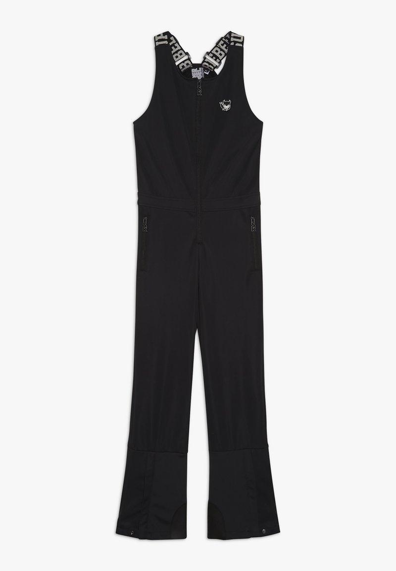 SuperRebel - SKI DUNGAREE  - Zimní kalhoty - black