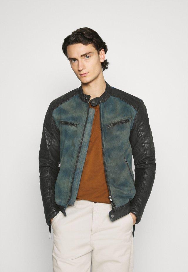 ANDY  - Leather jacket - indigo