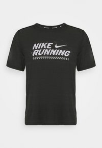 Nike Performance - MILER  - Print T-shirt - black/white - 4