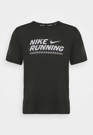 MILER  - Print T-shirt - black/white