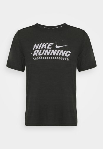 MILER  - T-shirt con stampa - black/white