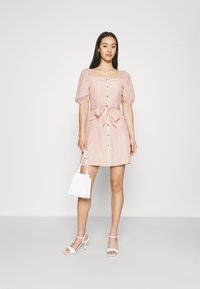 NA-KD - PUFF SLEVE TAILORED DRESS - Cocktail dress / Party dress - pink - 1