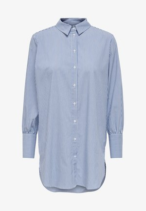 ONLNELLY  - Button-down blouse - bright white/stripes: blue