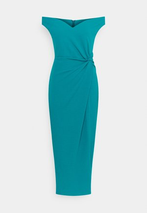 HARPER SIDE KNOT DRESS - Cocktail dress / Party dress - teal blue