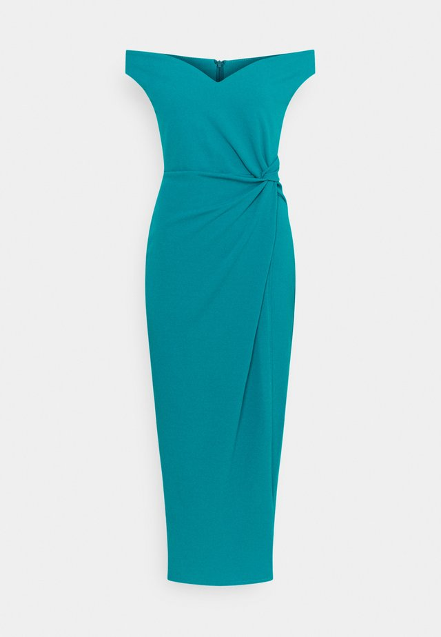 HARPER SIDE KNOT DRESS - Vestito elegante - teal blue