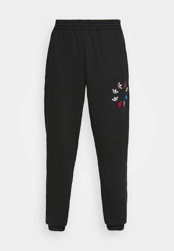 PANT - Tracksuit bottoms - black/multicolor