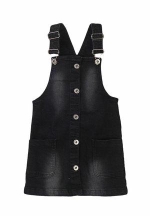 PINNY OVERSIZE POCKETS - Denim dress - black