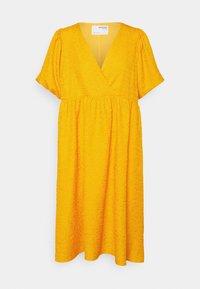 Selected Femme Petite - SLFLISSY MIDI WRAP DRESS - Day dress - citrus - 0