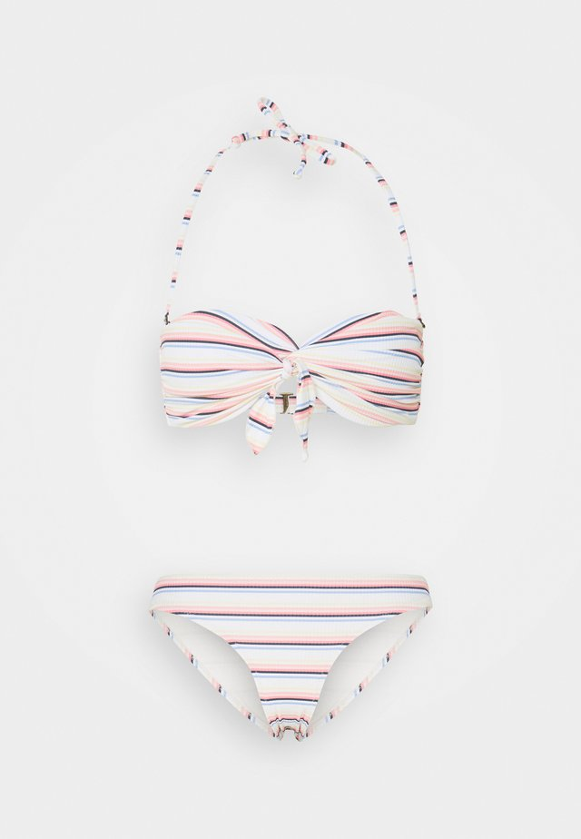 STATE BANDEAU SET - Bikini - bone