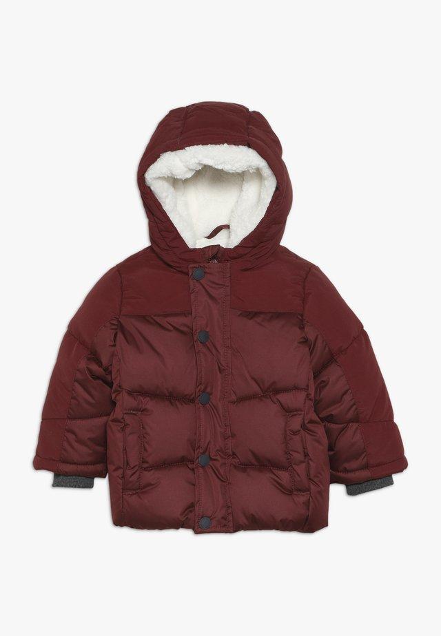 BABY JACKET WITH HOOD - Zimní kabát - burgundy