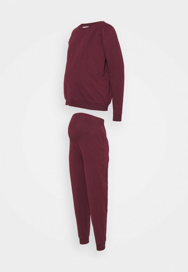 SET - Sweatshirt - bordeaux