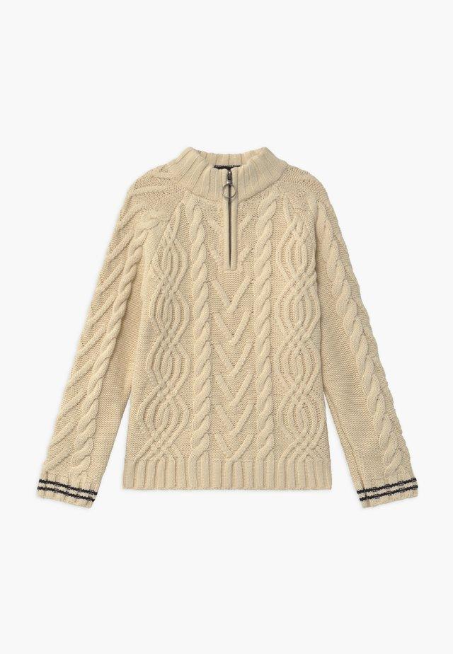 HALF-ZIP - Pullover - ecru