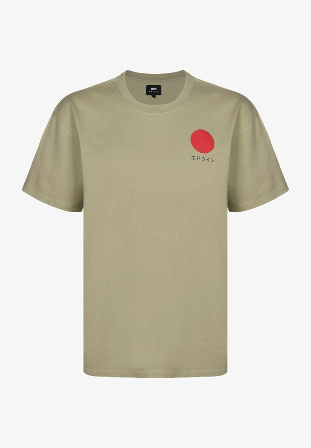 JAPANESE SUN - T-shirt print - sponge garment washed