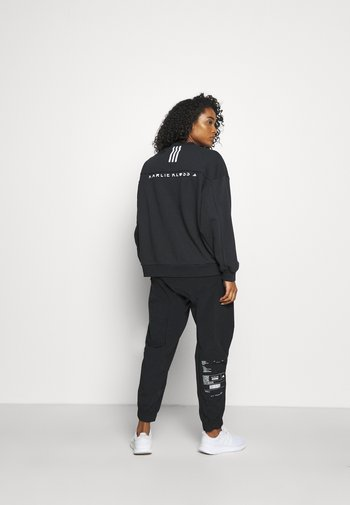 KARLIE KLOSS PRIMEGREEN SPORTS LOOSE - Sweatshirt - black