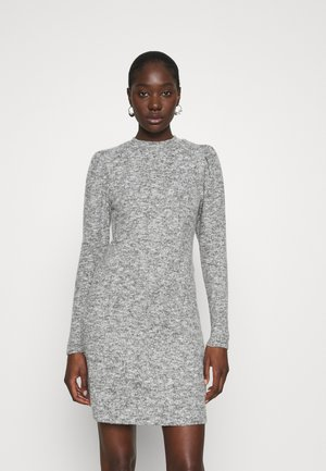 SOFT TOUCH HIGH NECK - Strikket kjole - grey