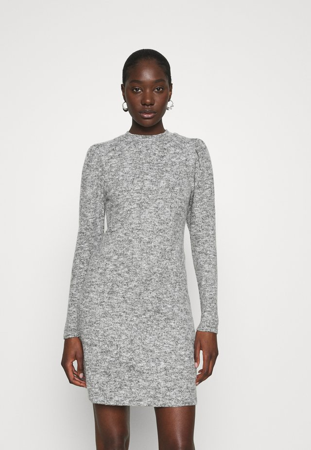 SOFT TOUCH HIGH NECK - Jumper dress - grey