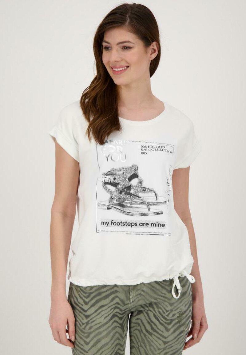 Monari - Print T-shirt - beige
