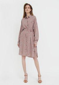 Finn Flare - Shirt dress - brown - 1